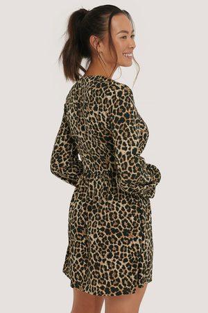 NA-KD Kvinder Festkjoler - Overlap LS Mini Dress