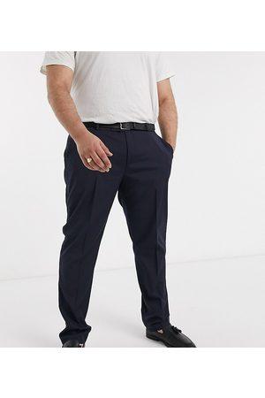 ASOS Plus - Marineblå skinny habitbukser