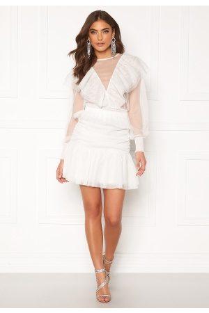 Alexandra Nilsson X Bubbleroom Kvinder Mininederdele - Tulle frill skirt Offwhite 36