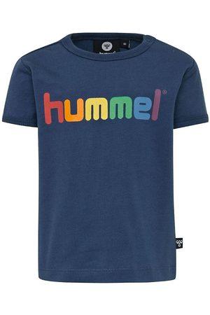 Hummel T-shirt - Sky - Navy m. Logo