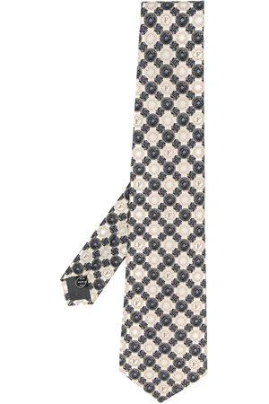 Gianfranco Ferré Mænd Slips - Slips med geometrisk mønster fra 1990