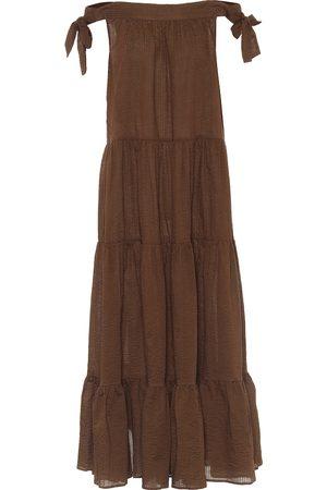 Marysia Starfish off-shoulder cotton maxi dress