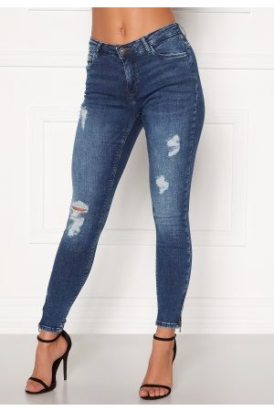 Noisy May Kvinder Skinny - Kimmy NW Ankle Jeans Medium Blue Denim 26/30