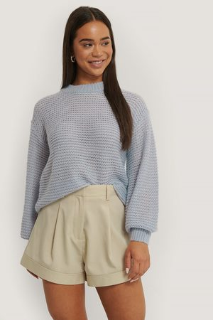 NA-KD Knitted Balloon Sleeve Sweater