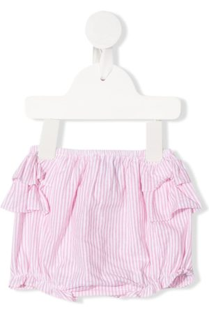 SIOLA Baby Shorts - Stribede shorts med mamelukker og flæser