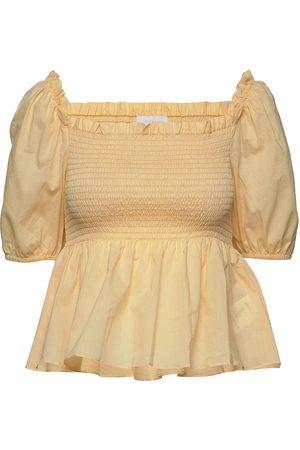 2nd Day Kvinder Bluser - 2nd Vilde Blouses Short-sleeved Gul