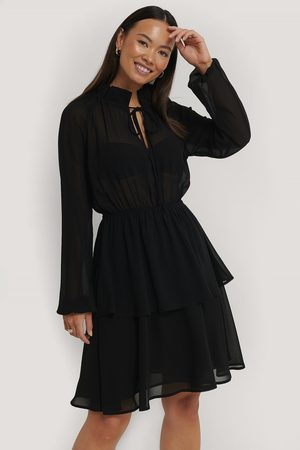 NA-KD High Frill Neck Dress