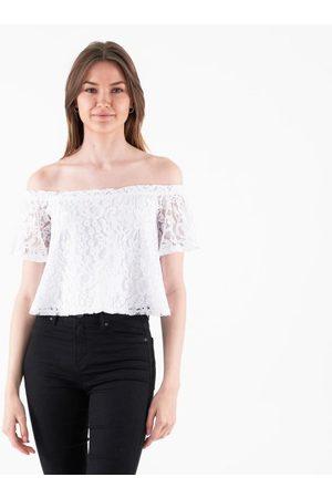 NA-KD Off shoulder lace top