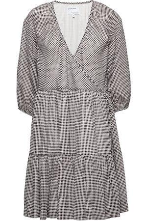 Designers Remix Kvinder Casual kjoler - Voluminous Wrap Dress Kort Kjole Grå