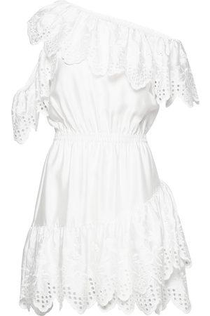 Designers Remix Kvinder Kjoler - Asymmetric Broderie Anglaise Dress Kort Kjole