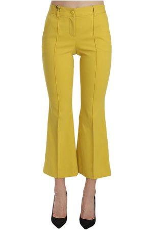 Dolce & Gabbana Bootcut Capri Cotton Pants