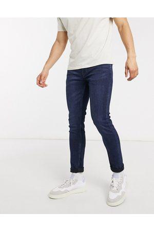 Only & Sons — Mørkeblå jeans med smal pasform