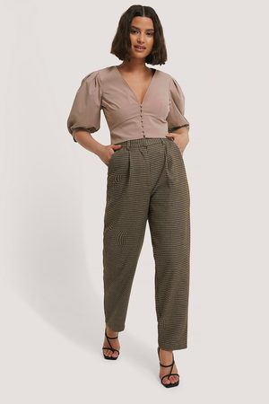 NA-KD Pleat Balloon Checked Suit Pants