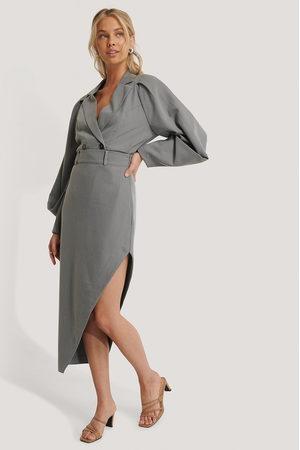 NA-KD Maxi Tailored Asymmetric Skirt