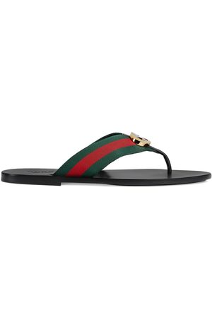 Gucci Men's thong sandal with Web