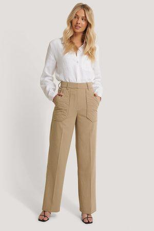 NA-KD Kvinder Habitbukser - Quilted Pocket Suit Pants