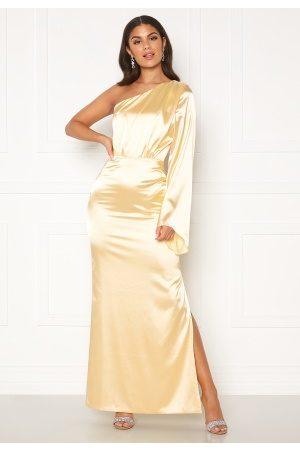 Nicole Falciani X Bubbleroom Nicole Falciani Satin Gown Gold-coloured 36