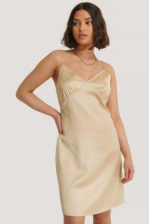 NA-KD Kvinder Festkjoler - Satin Cup Shape Mini Dress