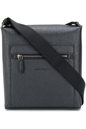 Salvatore Ferragamo Messenger-taske med lynlås i toppen