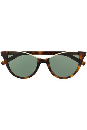 Saint Laurent Cat eye-solbriller med uindfattet top