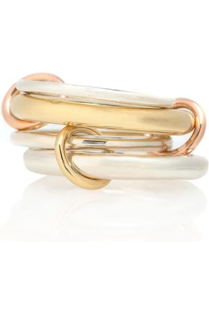 SPINELLI KILCOLLIN Cici 18-karat gold, rose gold and sterling silver linked rings