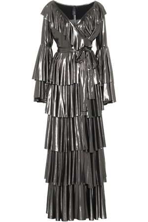 Norma Kamali Kvinder Maxikjoler - Ruffled lamé maxi dress