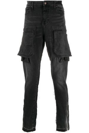 VAL KRISTOPHER Multi-pocket slim-fit jeans