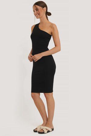 NA-KD Kvinder Casual kjoler - One Shoulder Rib Dress