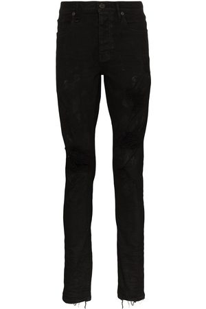 Purple Brand Oil Spill jeans med smal pasform
