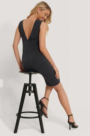 NA-KD Trend Deep V-Back Modal Dress
