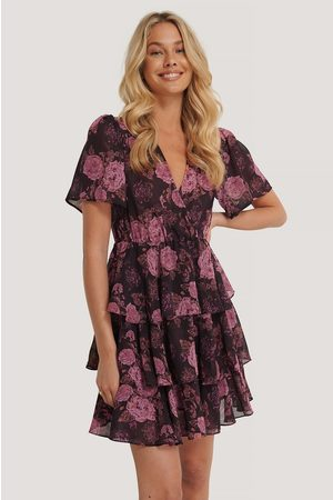 NA-KD Triple Layer Flounce Dress