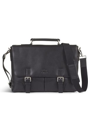 Howard London LEATHER BRIEFCASE BAG JAMES