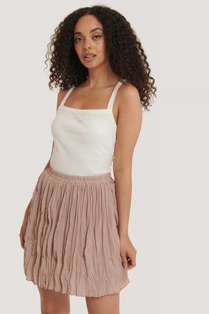 NA-KD Kvinder Mininederdele - Creased Mini Skirt