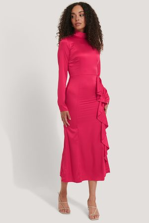 NA-KD High Neck Midi Dress