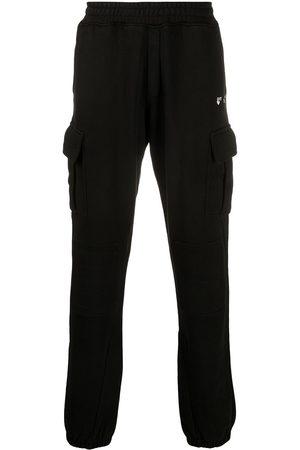 OFF-WHITE Mænd Joggingbukser - OW LOGO CARGO SWEATPANT BLACK WHITE