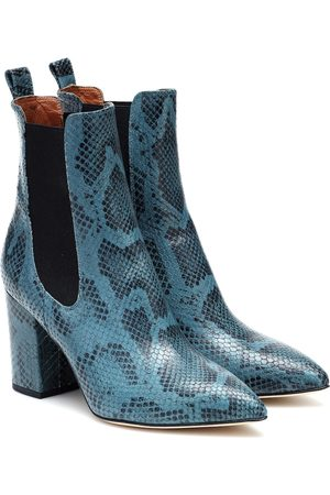PARIS TEXAS Exclusive to Mytheresa – Snake-effect leather ankle boots