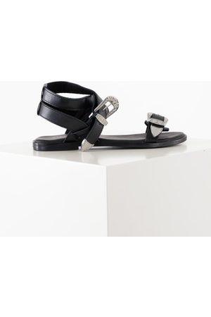 Pieces Kvinder Sandaler - Psadine leather sandal