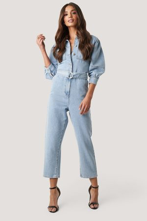 NA-KD Puff Sleeve Jumpsuit