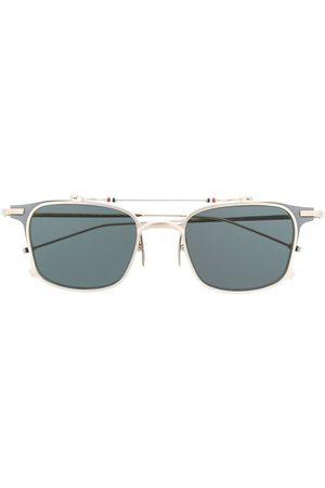 Thom Browne Eyewear TB817 Iron Clubmaster solbriller