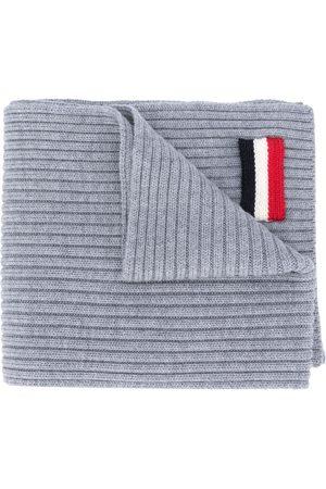 Moncler Tre-farvet tørklæde med mærke