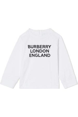 Burberry Top med lange ærmer og logotryk