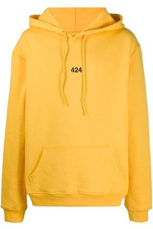 424 FAIRFAX Mænd Strik - Embroidered logo hooded sweatshirt