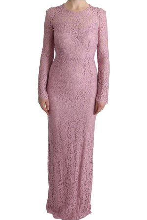 Dolce & Gabbana Floral Lace Sheath Long Dress