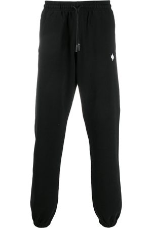 MARCELO BURLON Logo-embroidered drawstring track pants