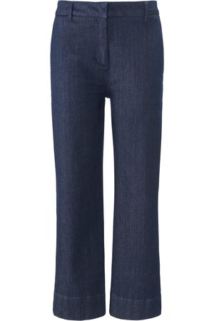 DAY.LIKE Ankellange Wide Leg-jeans Fra denim