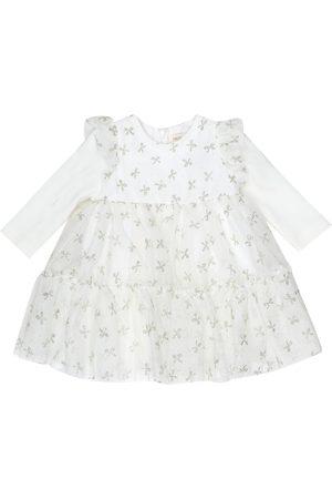 MONNALISA Printed tiered tulle dress