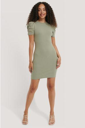 NA-KD Kvinder Casual kjoler - Puff Shoulder Short Sleeve Dress