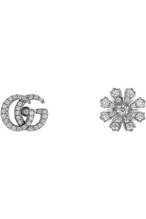 Gucci Flora 18k earrings with diamonds