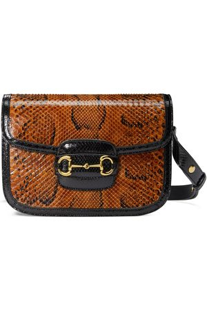 Gucci Horsebit 1955 python shoulder bag