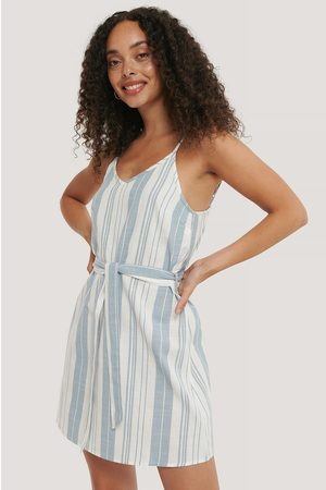 NA-KD Stripe Cotton Strap Dress